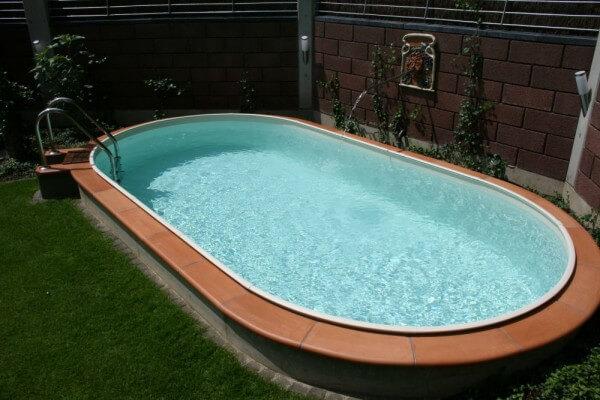 Ovalbecken Swim 150 cm tief 0,8 mm sandfarben