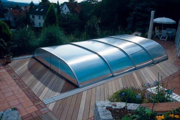 Schwimmbadüberdachung Sun Roof Elegance 830 x 425 x 85 cm