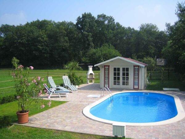 Ovalbecken-Set Swim All-in 800 x 400 x 150 cm 0,8 mm