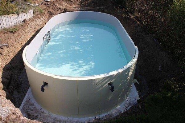 ConZero Poolsystem Ovalbecken