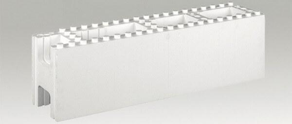 Styroporsystemstein gerade 100 x 25 x 30 cm P40 für Styroporpool