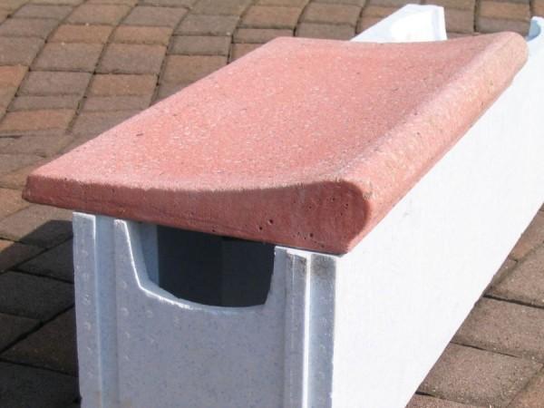 Beckenrandsteine für Ovalbecken 5,00 x 3,00 m rot Welle
