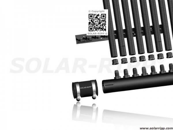 Solar-Ripp Absorber-Set 200 x 200 cm