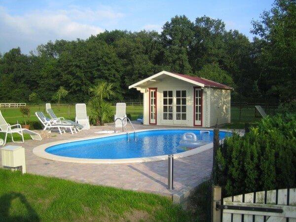 ovalbecken swim 150 cm tief 0 8 mm adriablau mit aluhandlauf. Black Bedroom Furniture Sets. Home Design Ideas